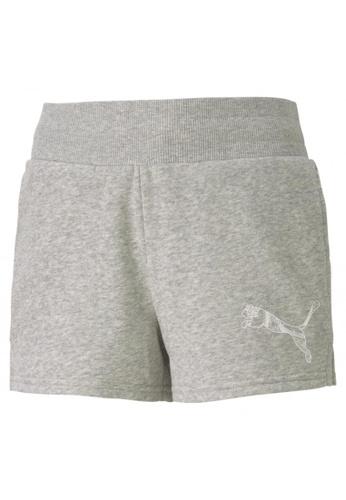 PUMA grey Graphic Girls' Shorts 7030CKAE8B6FCAGS_1