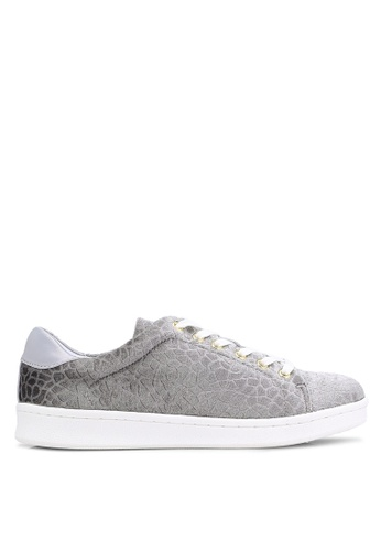 Miss Selfridge grey Grey Elodie Embossed Trainers MI665SH0RCK2MY_1