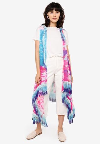 Desigual multi Tie Dye Poncho A179EACFFB475EGS_1