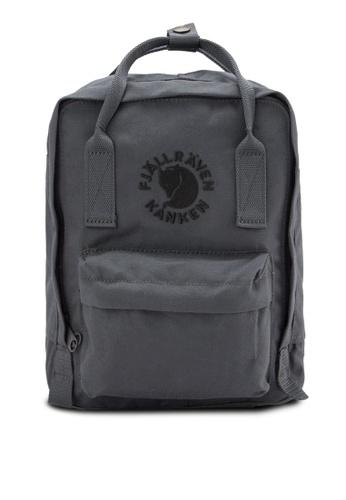 Fjallraven Kanken grey Slate Re-Kanken Mini Backpack FJ382AC89ZNMMY_1