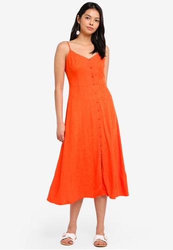WAREHOUSE orange Fern Jacquard Cami Dress 584B0AAA083EDCGS_1