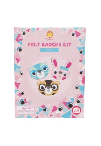 Tiger Tribe Felt Badges Kit - Animals 40B1FTH20B6452GS_1