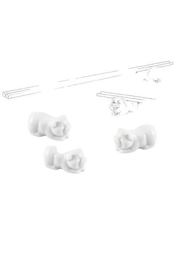 Minh Long I white Porcelain Piggy Chopstick Stand 709F2HL9F5520FGS_1