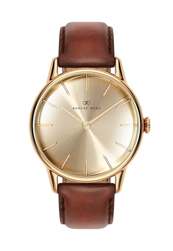 August Berg gold Serenity Shine Gold - Dark Brown Leather 32MM 5C846ACCFF8711GS_1