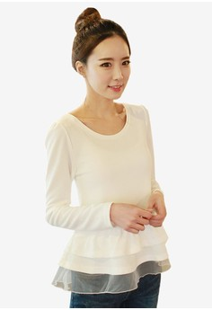 Round Neck with Frill Top