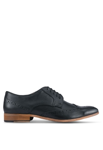 Topman black Black Leather Brogues TO413SH0SJL9MY_1