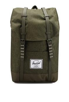 b4e95f3a28c Herschel green Retreat Backpack 5423DAC94C02BEGS 1