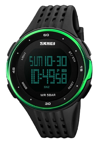 Skmei green SKMEI 1219 Outdoor Sports Watch Double Time Alarm LED Digital Military Watch (Green) SK707AC0S97JMY_1