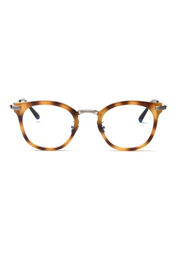 Kyfer's Eyewear & Essentials brown and silver GM Angular Glasses KY376AC93WNQSG_1