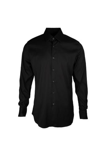 Prada black Prada Plain Stretch Shirt in Nero 257CDAA40925A4GS_1