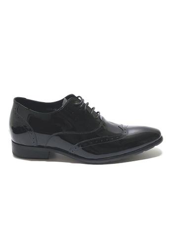 Kings Collection 黑色 哈里森增高漆皮鞋 (三吋) D7E8ASH2F5FB87GS_1