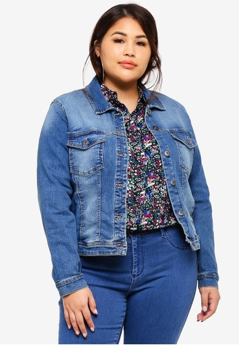 6109309c6be Shop Only CARMAKOMA Plus Size Wespa Denim Jacket Online on ZALORA  Philippines