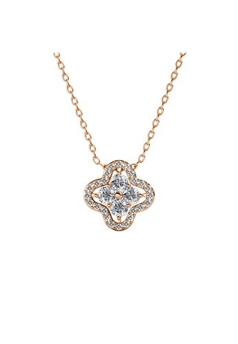 Her Jewellery Elegant Clover Pendant (Rose Gold) -  Embellished with Crystals from Swarovski® 73DDEACA3B8DE0GS_1