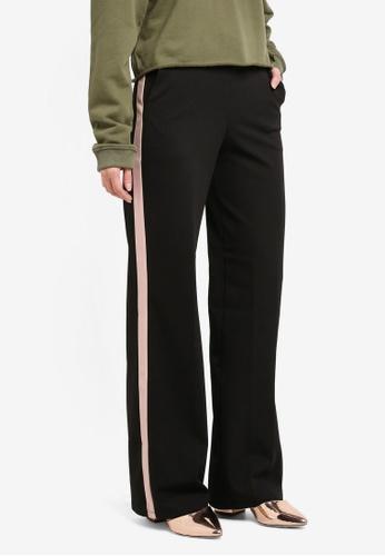 Miss Selfridge black Black Side Stripe Wide Leg MI665AA0T096MY_1
