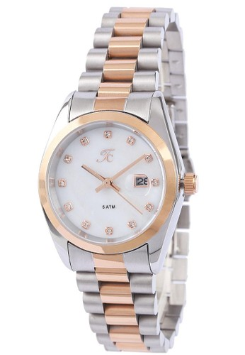 Teiwe Collection silver Moment Watch Teiwe Collection TC-CL2003 jam tangan wanita - stainlles steel - putih E71A0AC93C88D1GS_1