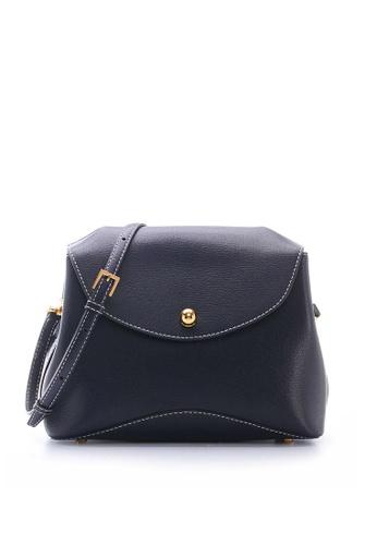 Enjoybag blue Laura`s Italian Goat Leather Shoulder Bag EN763AC48TODHK_1