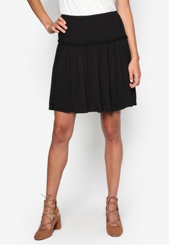 褶飾拼接短裙, 服飾esprit sg, 服飾