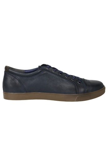 Tomaz blue Tomaz C268 Leather Cap-toe Sneakers (Navy) 9AE84SH4BEE617GS_1