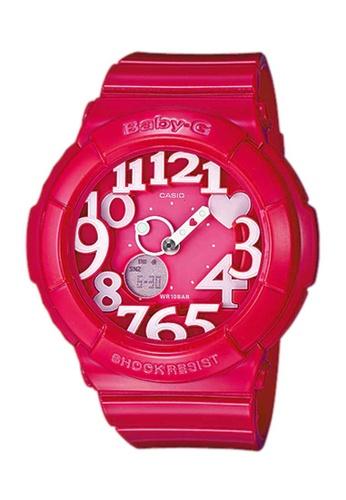 CASIO pink Casio Baby-G Neon Illuminator Red Pink Resin Watch 4C07DAC82497B3GS_1
