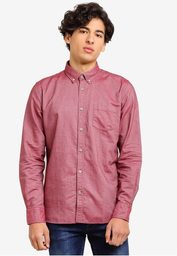 OVS red Casual Button-Down Shirt 36313AA097719BGS_1