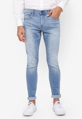 Hollister 藍色 Skinny Medium Jeans 10193AA5637ACEGS_1