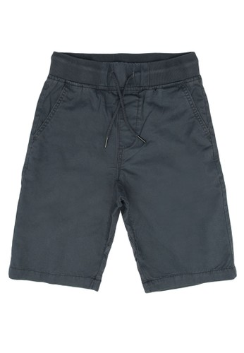 FOX Kids & Baby grey Bermuda Drawstring Shorts 9DFC3KABDACA00GS_1