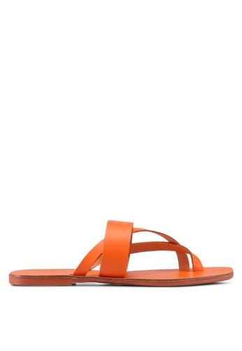 TOPSHOP orange Harper Sandals 10B13SH01C5B24GS_1