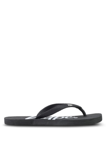 Just Hype black and white Script Flip Flops 7B3E7SHC5A9096GS_1