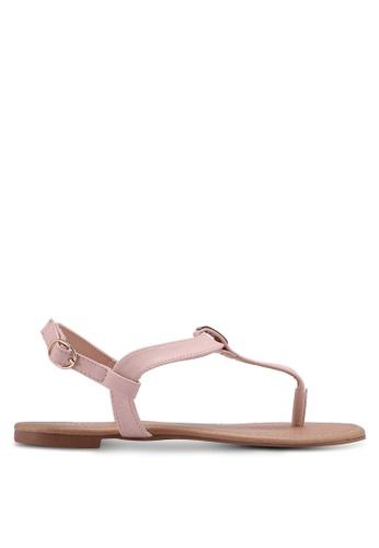 Rubi pink Everyday Aubrey Metal Toe Post Sandals 10CB3SH1C2DE68GS_1