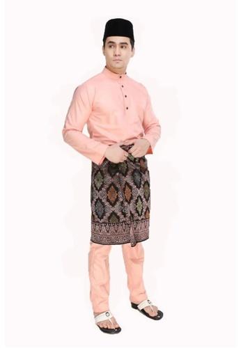 Amar Amran orange Baju Melayu Moden 2E0CBAA1D758DCGS_1