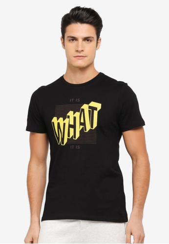 ZALORA black It Is What It Is Printed Tee 303D2AAC1F3724GS_1