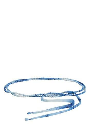 Mango blue Fabric Tie-Dye Belt BB2E1AC8D4CD7FGS_1