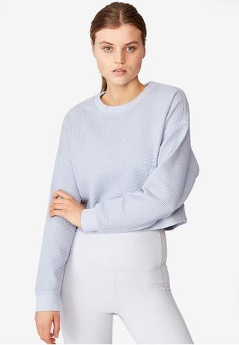 Cotton On Body blue Jacquard Fleece Top E357EAAA2A90B6GS_1