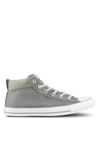 Converse green Chuck Taylor All Star Street Mid Sneakers CO302SH0SW72MY_1