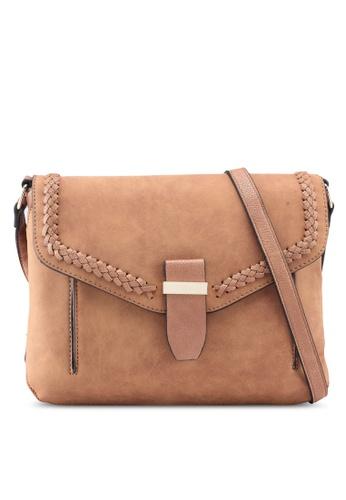 Buy Dorothy Perkins Tan Whipstitch Crossbody Bag   ZALORA HK 937fbbac0f