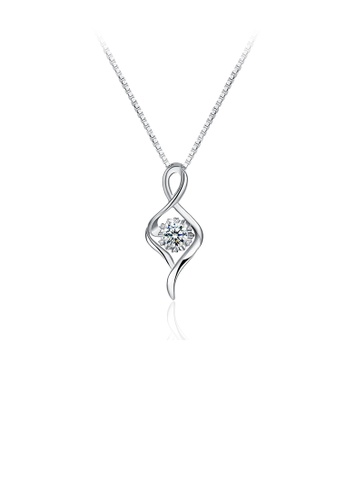 Glamorousky white 925 Sterling Silver Simple Fashion Pendant  Necklace with Cubic Zircon 4F268ACB6E6286GS_1