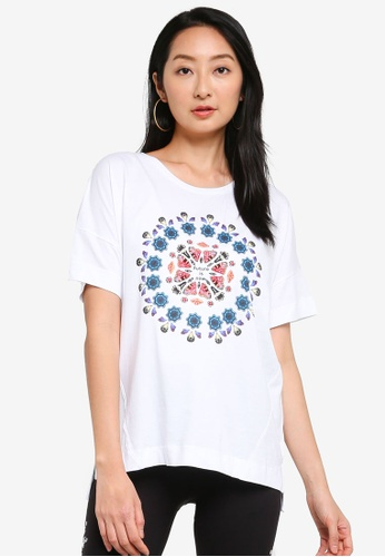 Desigual white Oversized Galactic T-shirt 5E40FAA85D28EBGS_1