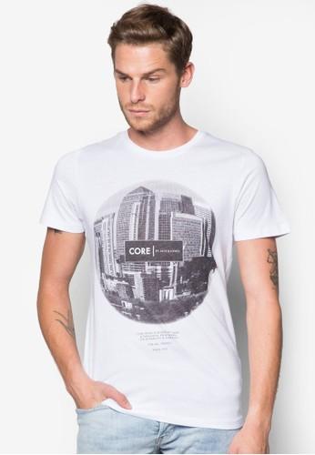 都市esprit holdings圖案圓領TEE, 服飾, 服飾