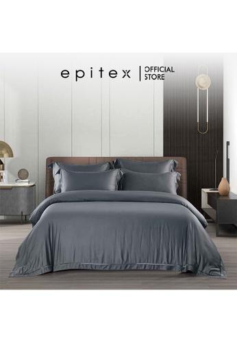 Epitex grey Epitex MD3033 1200TC Modal Dobby Fitted Sheet Set - Bedsheet Set - Bedding Set (Charcoal) - (w quilt cover) 628D9HL84ABEBBGS_1