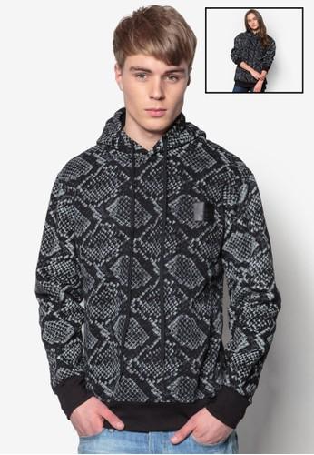 動物紋連帽抽繩長袖zalora 內衣衫, 服飾, 外套