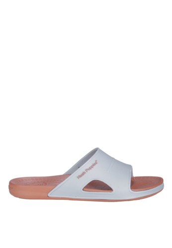 Hush Puppies Sandal Rubber Pria Pavel 2 Tone - Light Grey