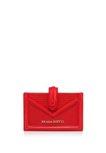 Braun Buffel red Cate Card Holder D59E0AC3CB3DBCGS_1