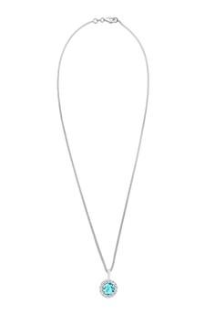 施華洛世奇水晶海藍寶石 925 純銀項鍊