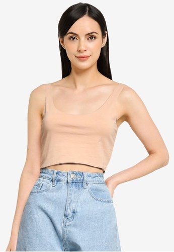 Cotton On pink Ash Crop Tank Top 6D8C5AAC48DB76GS_1
