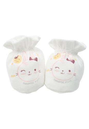 Organic mom white Charming Bunny Socks (SUMMER) DDAB1KA692654FGS_1