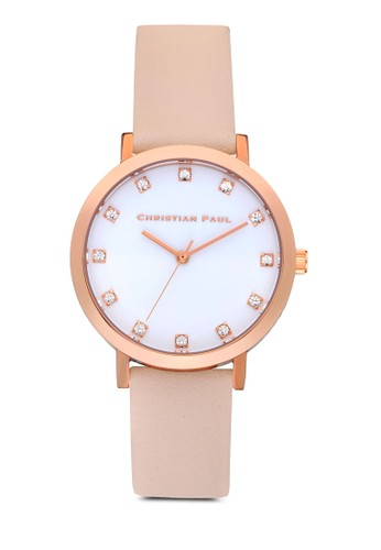 Bondi 35mm 奢華esprit分店風格紋手錶, 錶類, 皮革錶帶