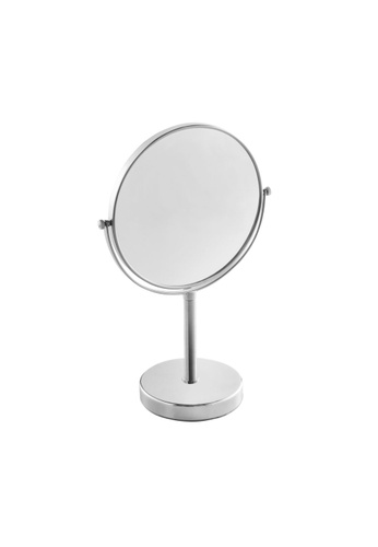 JVD JVD Lifestyle Fiesta Desktop Double-Side Mirror with 3 times magnification on 1 side, Chrome finishing F0711HL2ED9A1BGS_1