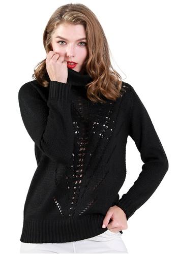 London Rag black Black Turtle Neck Long Sleeve Knit Sweater 44A4DAA61DAD16GS_1