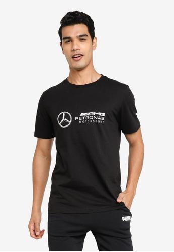 PUMA black Mercedes AMG Petronas Short Sleeve Men's Tee 08F52AA503BAF7GS_1