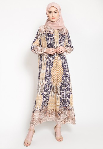 LISH blue and beige and brown Elior Dress - Twilight 2A51FAA5AD9FEDGS_1